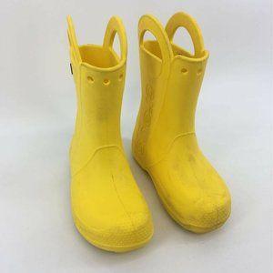 Crocs Unisex Kids Handle It Rain Boot Yellow